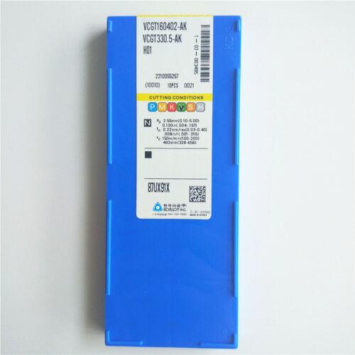 Korloy VCGT160402-AK H01 VCGT330.5-AK H01 CNC Carbide Inserts