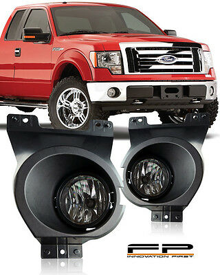 Bulbs Harness For 11-14 Ford F150 Clear Lens Bumper Driving Fog Light W//Factory Style Switch