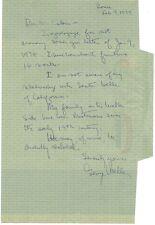Pulitzer Prize Journalist GEORGE WELLER Autograph Letter Signed