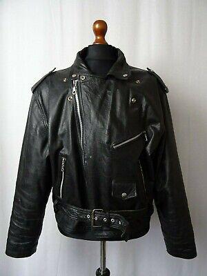 Men's Vintage Giacca Di Pelle Da Motociclista John F. Gee 46r (xl)- Alta Sicurezza