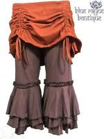 Brown Cropped Masala Bloomers Ruched Cinch Skirt Steampunk Belly Dance Pants