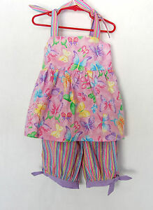 *Handcrafted* Butterfly Top & 2 colorful Pants - for Girls 3 (three) YEARS
