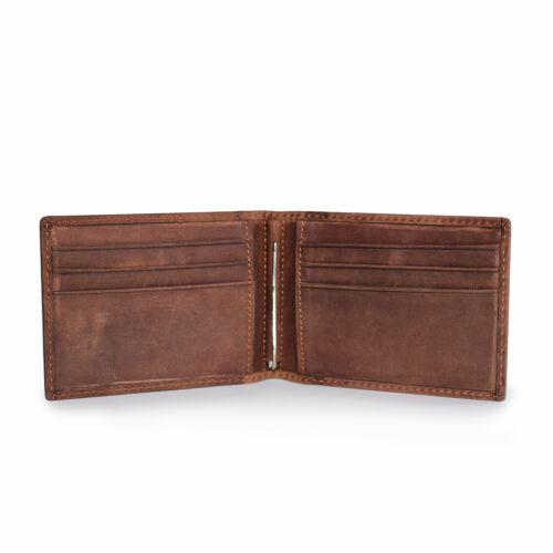 Mens Slim Money Clip Wallet RFID Leather Front Pocket ID Credit Card Holder Case