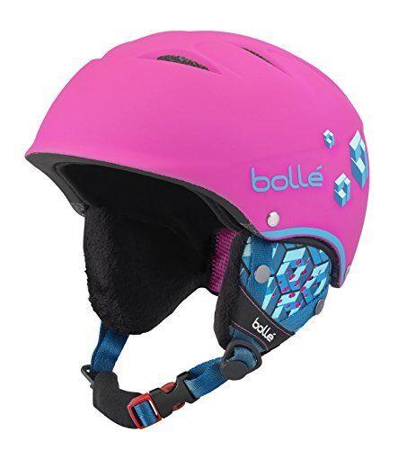 Bollé B-Free, Casco da Sci Bambine e Ragazze, Soft Neon rosa Blocks, (u0f)