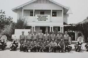 Disneyland-1955-Farm-House-PHOTO-California-CHP-Motorcycle-Officers-Walt-Disney