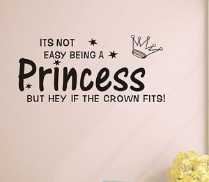 Princess-crown-Wall-quote-decals-Removable-stickers-decor-kids-nursery-art