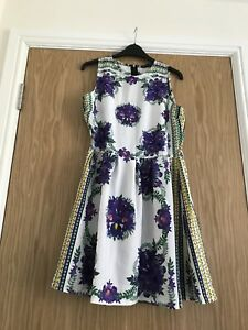 Ladies-Knee-Length-Summer-Tea-Dress-Size-12-Special-Occasion