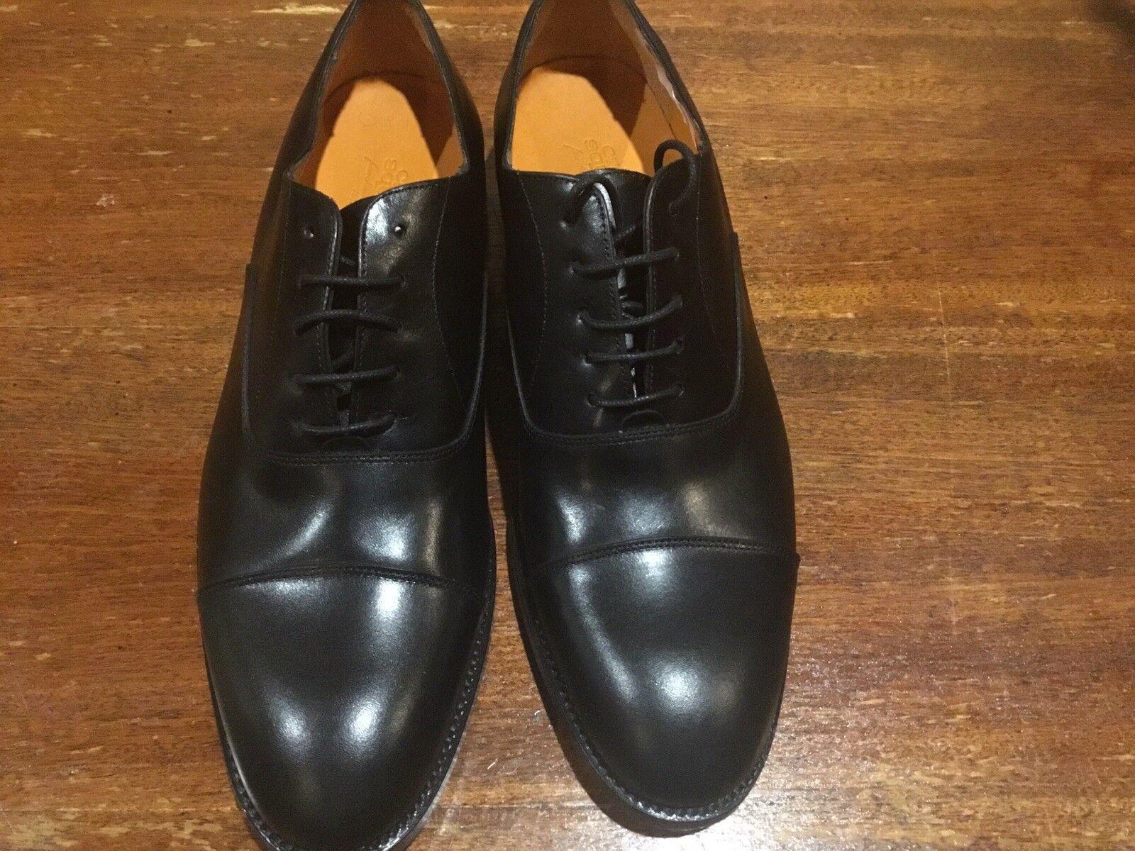 Men's Black Crosby Square Cap Toe Oxford shoes Size 9D