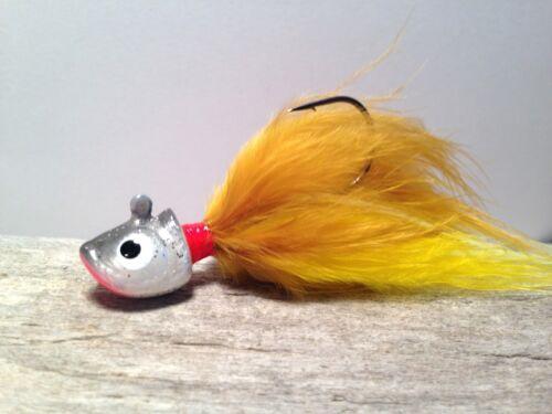 Custom Tied Ice Fishing Jig  3//8 oz. Hardwater Tackle