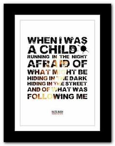 KATE-BUSH-Hounds-Of-Love-song-lyrics-typography-poster-art-print-A1-A2-A3-A4
