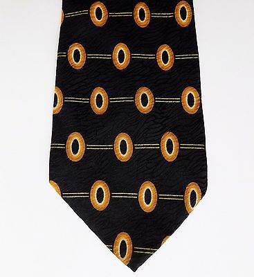 Ciro Citterio pure silk tie black and gold made in Italy vintage 1990s