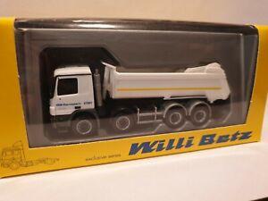 Herpa-actros-NR-27001-WB-transport-Willi-betz-4-alineacion-halfpipe-kipper