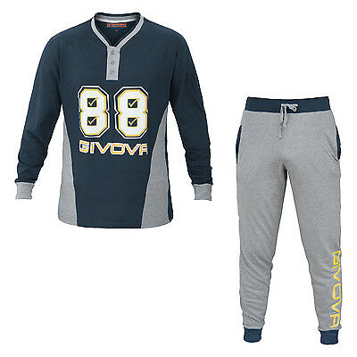 Pigiama Homewear Uomo GIVOVA Cotone Jersey 2 Colori Art.6003