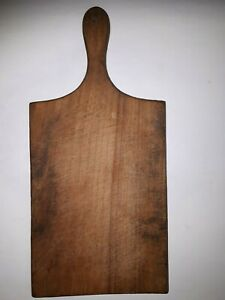 OLD-ANTIQUE-PRIMITIVE-WOODEN-WOOD-BREAD-CUTTING-BOARD-PLATE-17