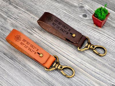 GPS Keychain Personalized Keychain Husband Gift Location Keychain Coordinates Keychain Latitude Longitude Keychain Couples Keychain