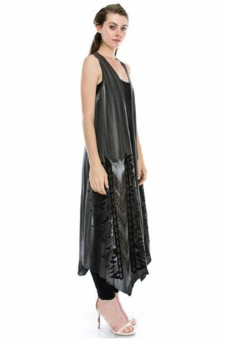 Vocal New Design Vest Aztec Print Stones Pockets Detail Long Top Sizes S M L XL