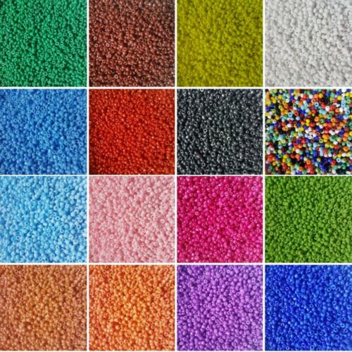 USE FOR PEYOTE CRAFT JEWELLERY PACK OF 2MM 11//0 BOLD BRIGHT COLOUR SEED BEADS