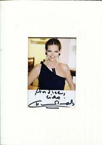 CLAUDIA CARDINALE - Photo avec signature autographe