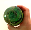 """thumbnail 4 - Glass Paperweight Isle of Wight England Green Bubble Swirl Impressed Seal 3.5"""""""