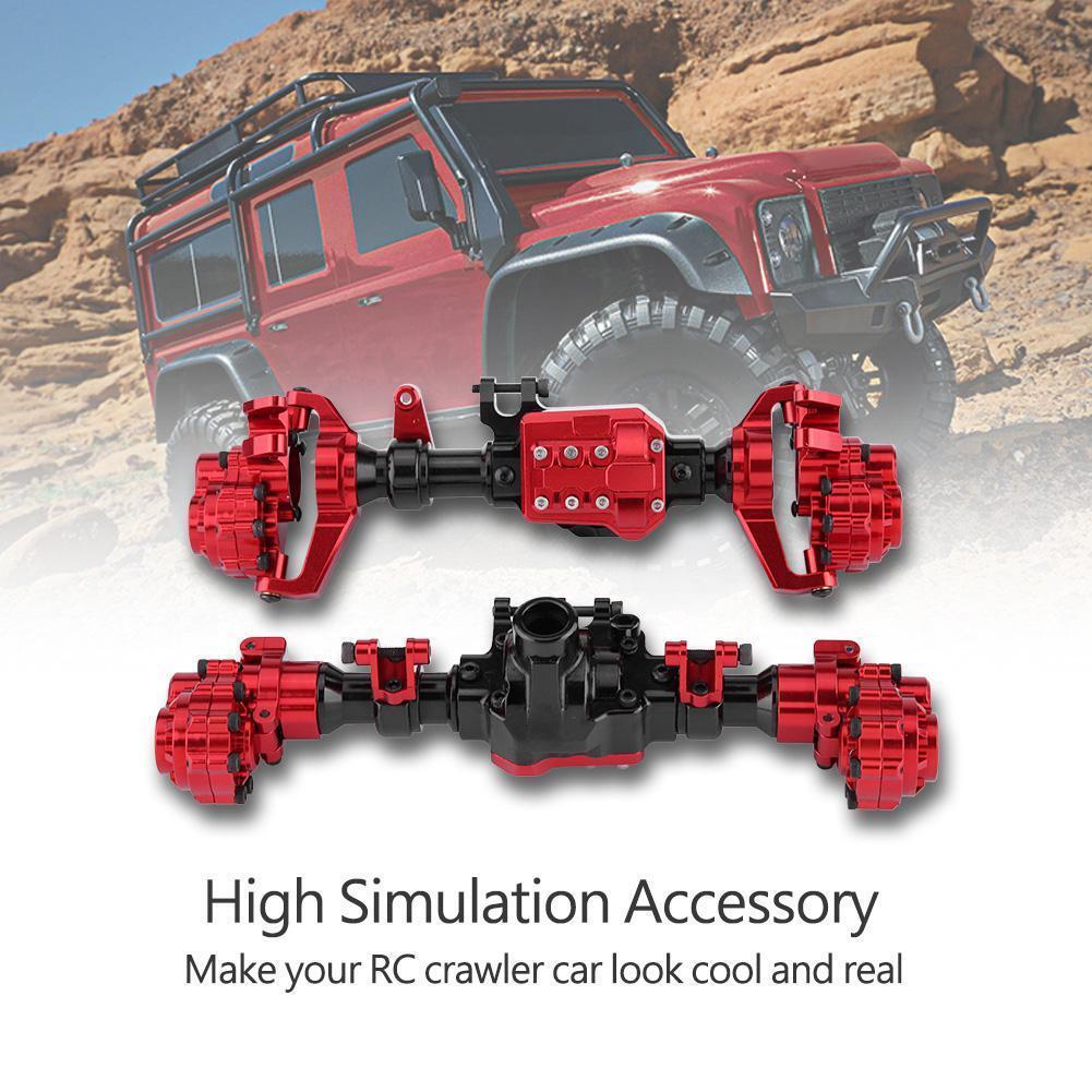CNC mecanizado metal frontal + trasera Ejes Portal de la vivienda para Traxxas TRX-4 Crawler D