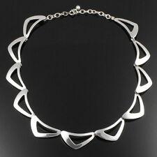 NILS ERIK FROM Sterling-Silber-Collier DÄNEMARK/Denmark Halskette große Elemente