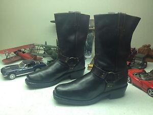 af2b7a4ffbd Details about BOULET MADE IN CANADA DARK BROWN LEATHER ENGINEER ROAD BOSS  HARNESS BOOTS 11.5E