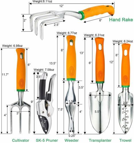 Juego De Herramientas De Jardin Mandel Delantal Aluminio Piezas Garden Tool Set
