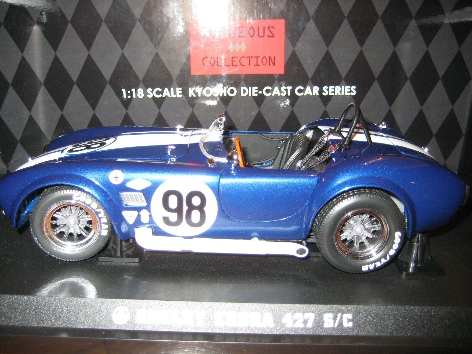 KYOSHO GORGEOUS COLLECTION SHELBY COBRA 427 S C   98 RACING SCREEN (Blau)