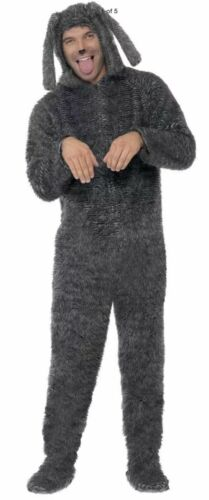 Smiffys Fluffy Dog Costume Hooded All in One Men/'s Halloween Costume Medium NEW