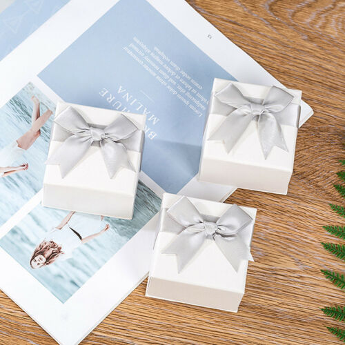 Paper Package Bowknot Jewelry Ring Necklace Earrings Gift Box Case fashion vbZY