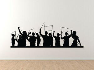 Crowd silhouette sports crowdcelebration group cheer for Cheerleader wall mural