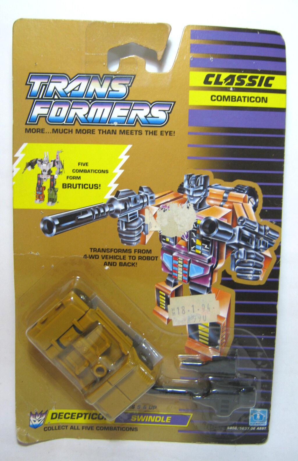 Transformers 1990 G1 Swindle Combaticon Bruticus Moc Europea Exclusiva Nueva (n)