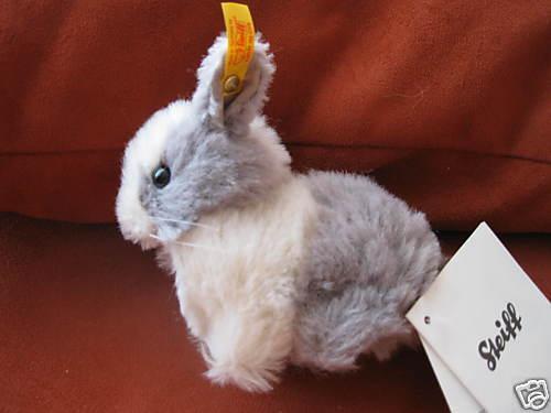Steiff Hase Dormili in12 cm aus Alpaca grau / weiß   076572 neu