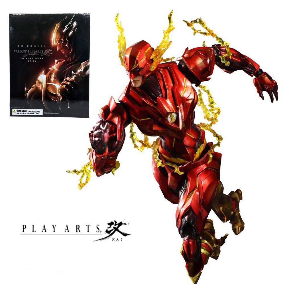 DC Comics Variant Play Arts Kai No 4 The Flash Action Figures Statue Model Toy
