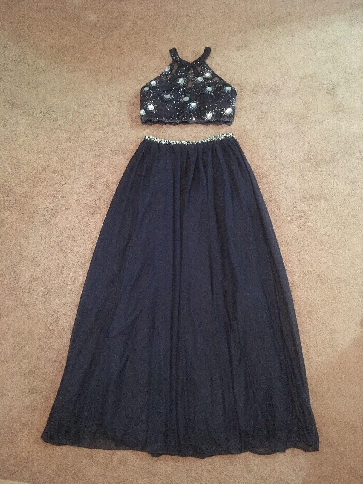 Women's Jr. Girls My Michelle Size 13 Navy bluee Prom Formal Homecoming Dress