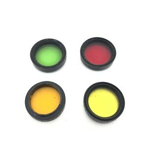 Vintage-Argus-30mm-Colored-Drop-in-Filters-Red-Green-Yellow-Orange-2X-5X