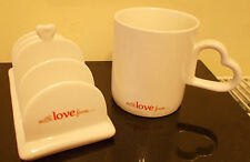 Clover With Love Rare Heart Handle Toast Rack and Heart Handle Mug