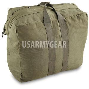 Details about USAF OD Olive Drab Flyer s Kit Flight Cotton Duck Canvas Pilot  Parachute Bag GI 667e0a1ca3b10
