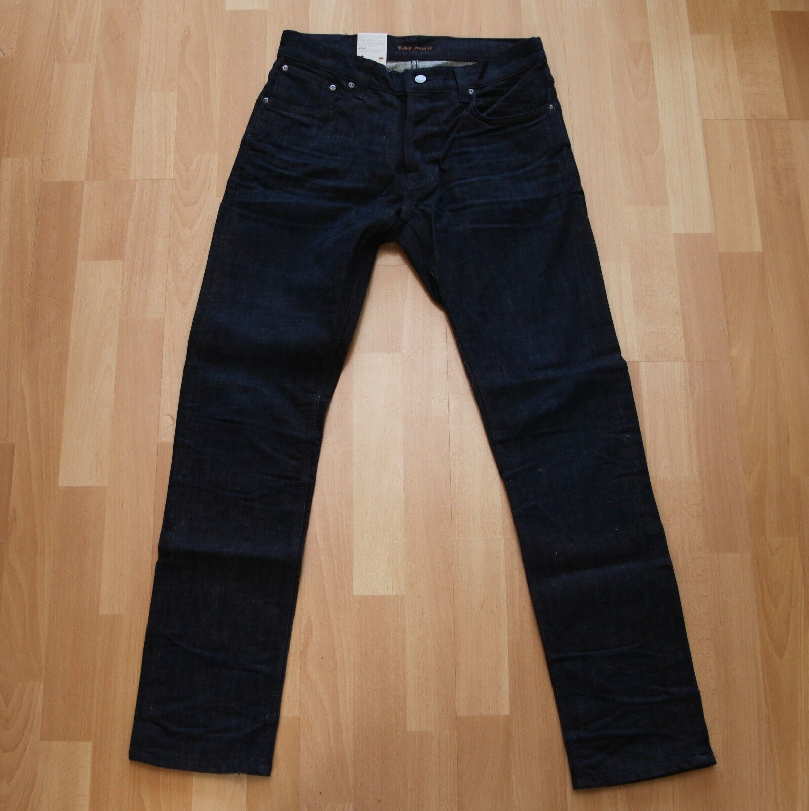 NUOVO Nudie Jeans tilted CANCELLO (tight fit) Dark Navy blus 32 32