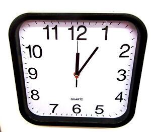 Black Square Quartz Kitchen Wall Clock