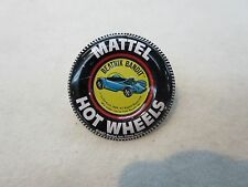 HOT WHEELS REDLINE BEATNIK BANDIT VINTAGE BADGE BUTTON WITH TAB
