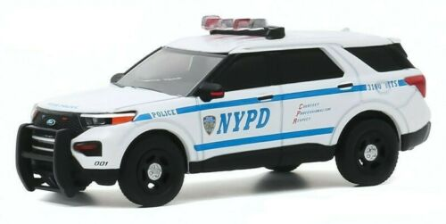 NYPD 2020 Ford POLICE Interceptor Utility New York City USA* Greenlight 1:64 NEU