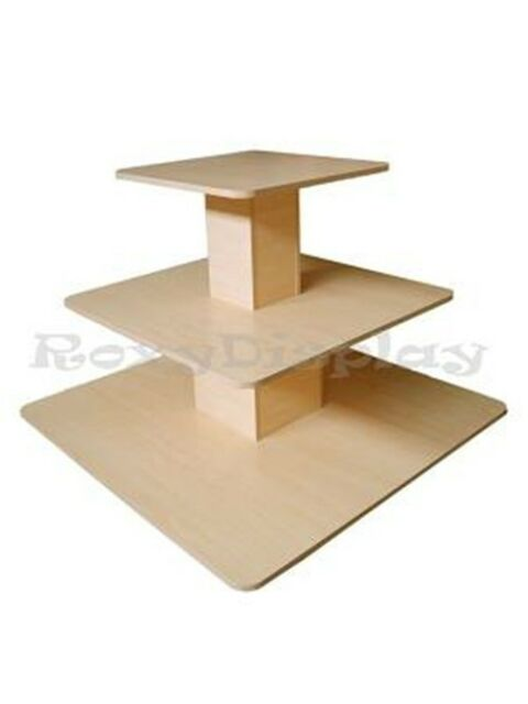 3Tier Table Black color Clothing Clothes Display Racks Stands #3TIER48BK-RK