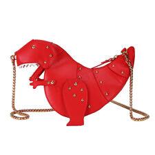 Crossbody Shoulder Bag Girl Handbag Women 3D Triceratops Dinosaur Rivet YJ1 HOT