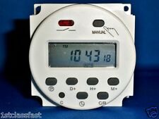12VOLT 12V DC PROGRAMMABLE LCD DIGITAL TIMER CONTROL 16A 12VDC UPTO 8 CYCLES/DAY