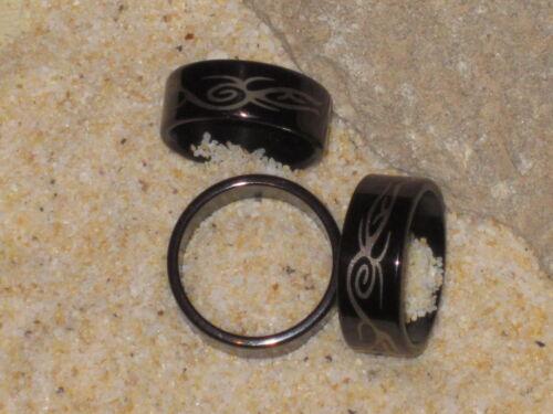 Tribal Design anillo de acero inoxidable tatuaje negro//oro anillo de acero inoxidable Cool me 86