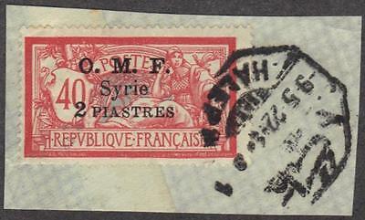"""Kreativ Syrien 4882cmhalab """" Achteckig Ottoman Cancellor Binden 2 Pi Auf 40¢ Tied To Syrien Briefmarken"""