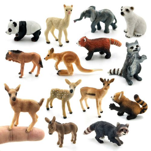 Fashion Wild Animal Model Miniature Wildlife Figurines Fairy Garden Ornament
