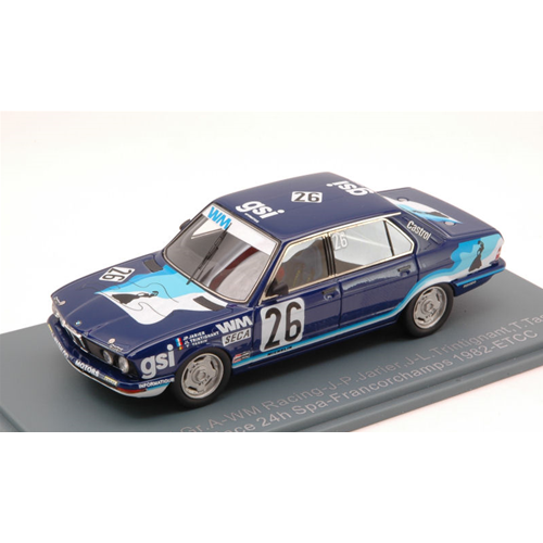 BMW 528 Gr.A N.26 2nd ETCC SPA 1982 JARIER-TRINTIGNANT-TASSIN 1 43 Die Cast
