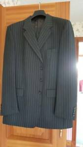 Aquascutum-Men-s-superfine-grey-striped-suit-54R-44-Made-in-England-W36-IL-32